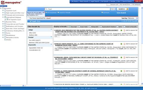 Manupatra Search New On Manupatra