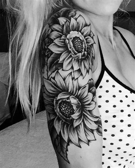20 of the most boujee sunflower tattoo ideas arm sleeve