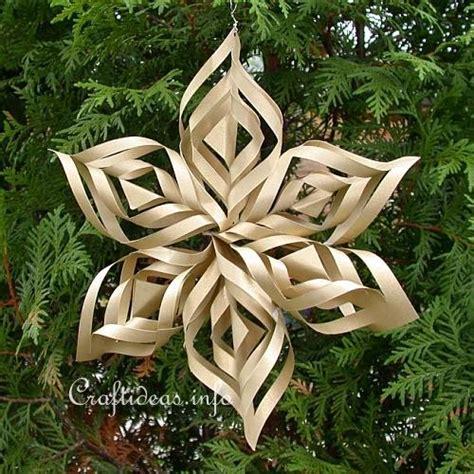 free christmas craft lacy gold paper star christmas tree