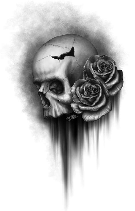 skull and black rose tattoo best 25 skull and drawing ideas on skull