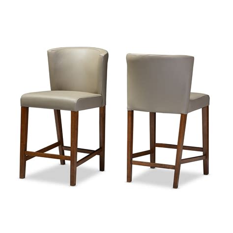 leather counter stools bevel gray leather counter stool modern furniture