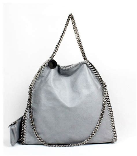 Stella Mccartney Mirror Quality 108 stella mccartney falabella pvc fold light grey tote