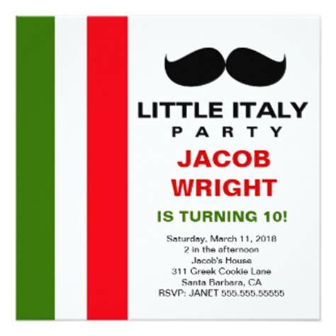 italian card template italian invitations announcements zazzle
