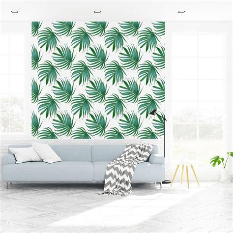 Stickers Tapisserie by Sticker Tapisserie Tropicale Feuilles De Palmiers Nature