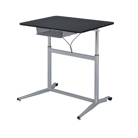 coaster height adjustable standing desk with storage in