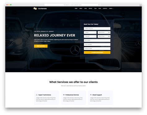 best car rental website 20 best free travel website templates with of colors