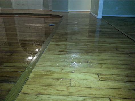 water damage restoration after a flood caused by a broken