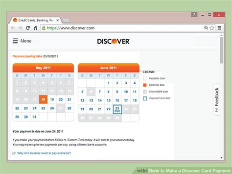 discover card make a payment 4 ways to make a discover card payment wikihow