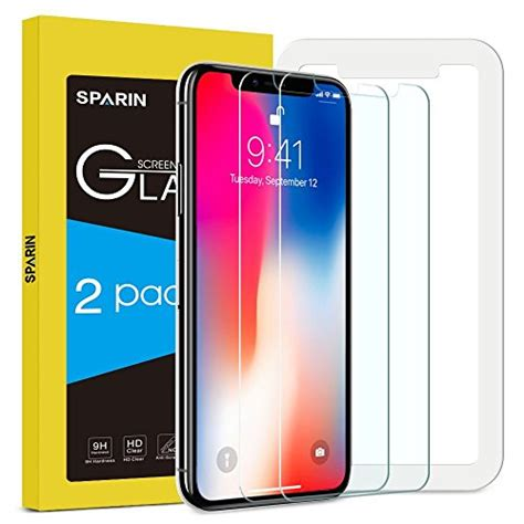 bovon verre trempe lot de 2 verre tremp 233 iphone x sparin protection ecran protecteur vitre pour iphone x