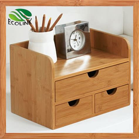 Desk Organizer With Drawers China New Designer Bamboo Desk Organizer With Drawers For Office Photos Pictures Made In
