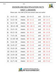 3rd grade multiplication and division worksheets