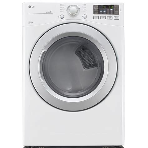 lg gas dryer lg electronics 7 4 cu ft gas dryer in white energy