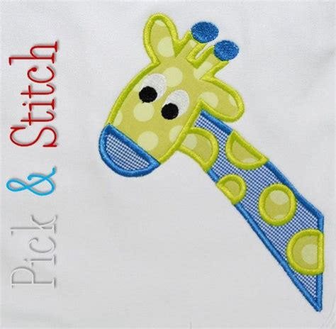 giraffe applique giraffe applique design machine embroidery instant