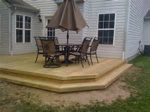 Wooden Patio Deck by Outdoor Deck Designs Wood Deck Designs Deck Plans And