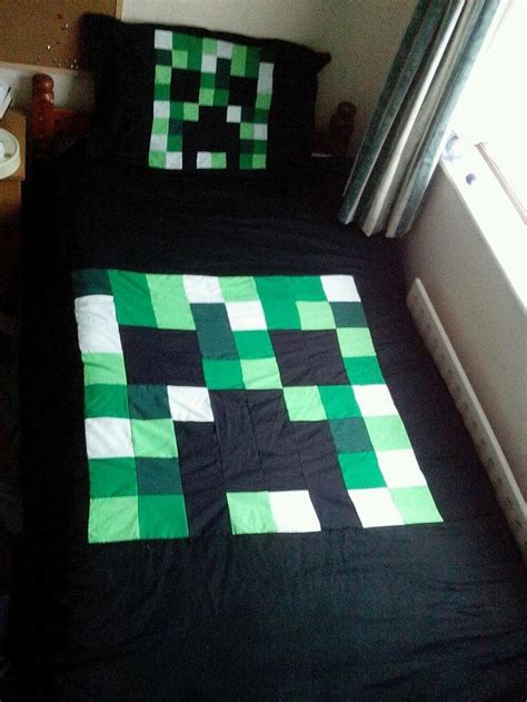 Minecraft Quilt Cover by Minecraft Creeper Duvet Cover Pillow Single