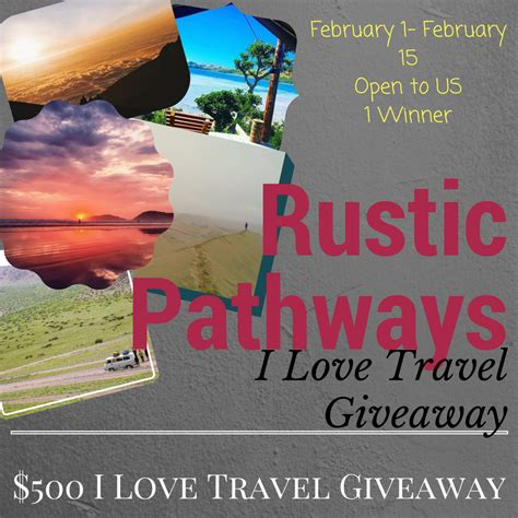 Vacation Giveaways 2017 - before and after baby rustic pathways i love travel giveaway