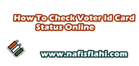 how to make voter id card how to check voter id card pehchan patra status