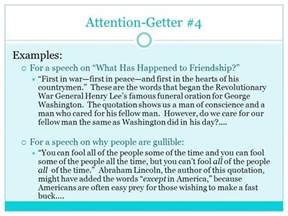 Attention Getters For Essays by Parts Of A Speech The Introduction Ppt