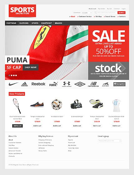 magento html template for sale magento web template best designs award