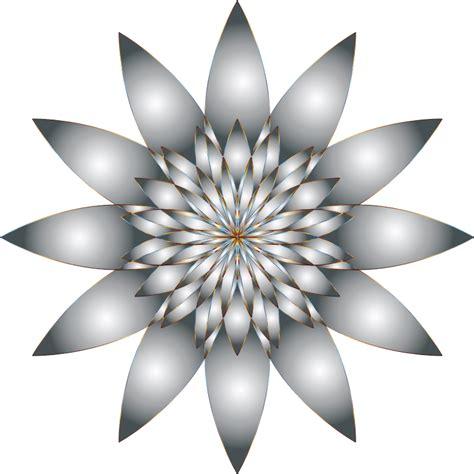Clipart - Chromatic Flower 11 No Background Microsoft Garden Clipart