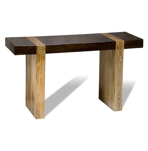 wooden sofa tables berkeley chunky wood modern rustic console sofa table