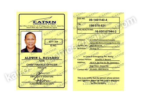 company id card template philippines kairos graphics design pvc id school company