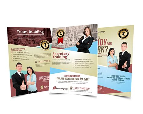 Work Training Team Building Flyer Template On Behance Team Building Poster Template