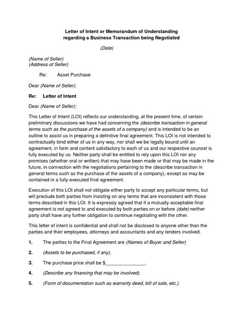 best photos of business letter of intent letter of