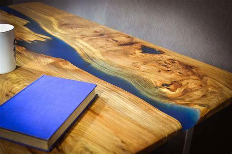 resin river coffee table handmade resin river coffee table on steel base by frances bradley
