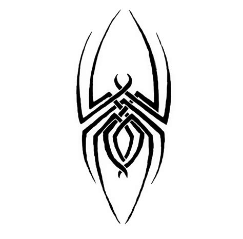 tribal black widow tattoo cool tribal spider drawings clipart best