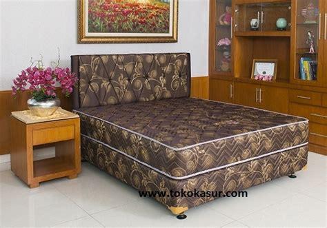 Uniland Bed 180x200 Komplit Set Sandaran Chrysant Coklat uniland paradise magnolia 24 cm toko kasur bed