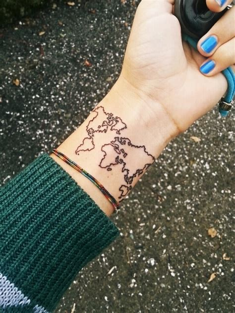 world tattoo wrist world map tattoos bast magazine