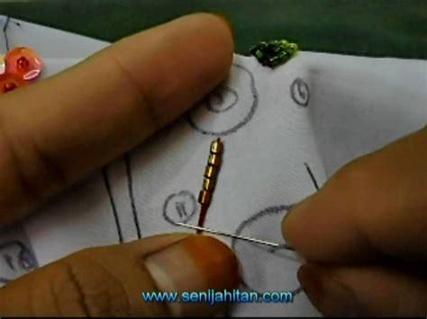 cara menjahit manik video tutorial teknik asas sulaman manik dan labuci youtube
