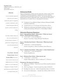 Sle Cover Letter For Practicum by Resume Template For Beginning Teachers Bestsellerbookdb