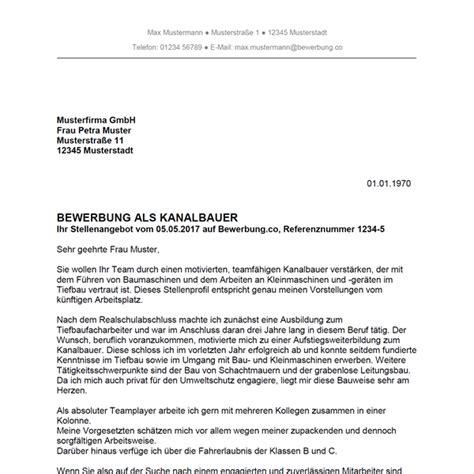 Praktikum In Einer Grundschule Bewerbungsschreiben bewerbung als kanalbauer kanalbauerin bewerbung co