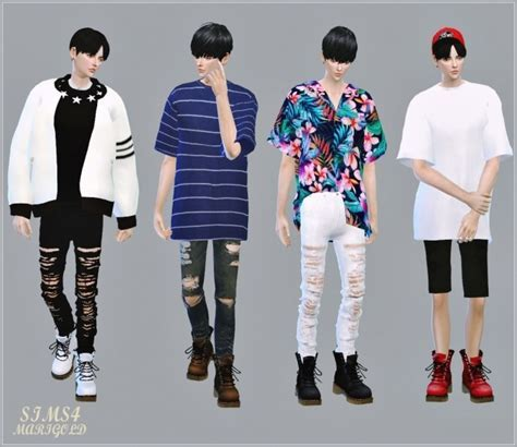 Male Combat Boots at Marigold » Sims 4 Updates