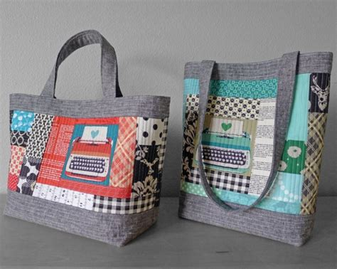 Easy Patchwork Bag Patterns - quilted tote pattern by elizabeth hartman supply