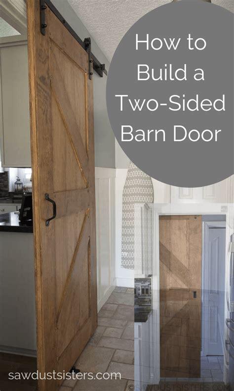 build   sided barn door   building