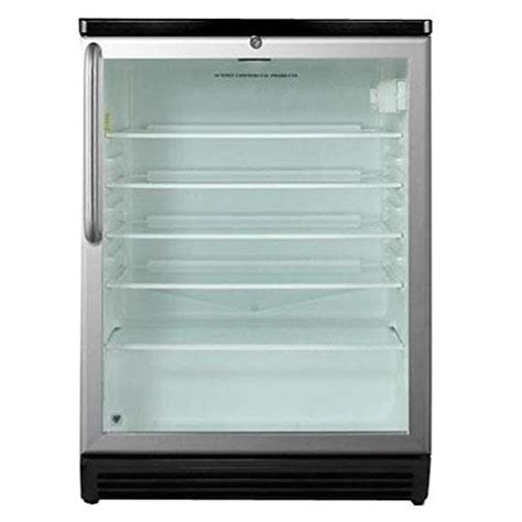 Summit Glass Door Refrigerator Summit Scr600l White Accucold Glass Door Refrigerator