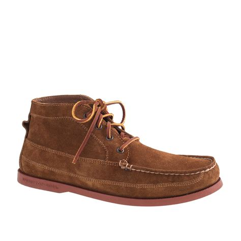 sperry top sider boots mens sperry top sider suede chukka boots in brown for lyst
