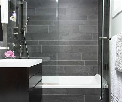 gray slate tile bathroom house decor ideas