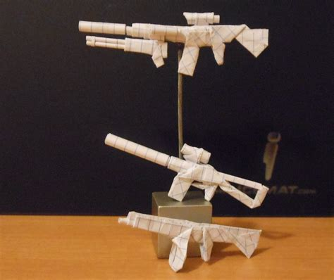 How To Make An Origami Weapon - origami weapons 1 by solidmark on deviantart