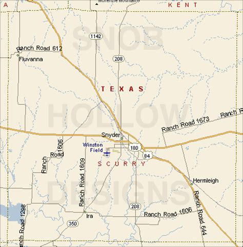 map of snyder texas scurry county texas color map