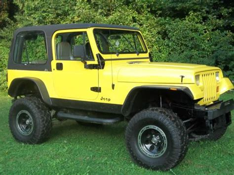 Used 1995 Jeep Wrangler Purchase Used 1995 Jeep Wrangler Se Sport Utility 2 Door 2