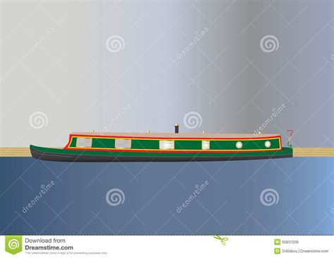 clipart narrow boat narrowboat stock vector image 55637036