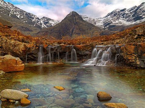 fairy pools isle  skye scotland desktop wallpaper