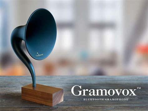 gramovox gramophone bluetooth speaker gadgetsin
