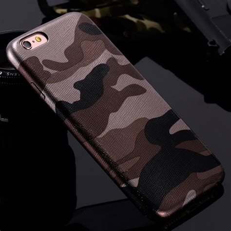 Army Iphone 7plus kisscase for iphone 7 cases camouflage cool leather back cover for iphone 7 7