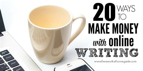 20 Ideas To Make Money Online - 20 ways to make money with online writing jobs