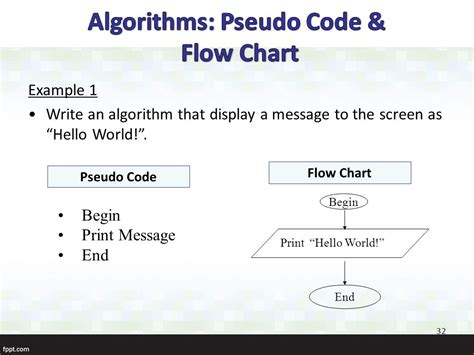 algorithm flowchart and pseudocode exles ekt150 introduction to computer programming ppt